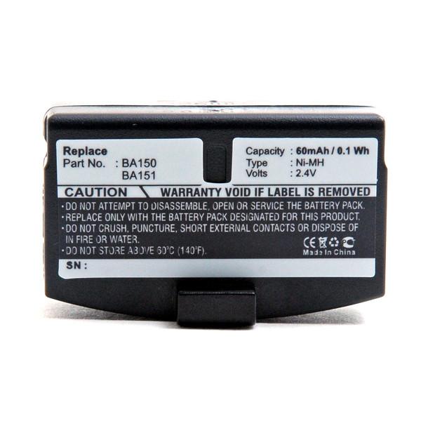 Audio headset battery 2,4V 60mAh for Sennheiser RS 30