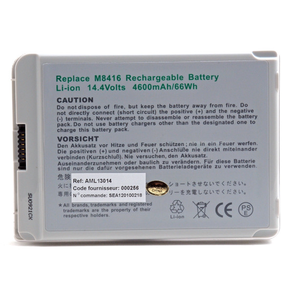 Laptop battery 14,4V 4400mAh for Apple iBook G3 M7701LL/A
