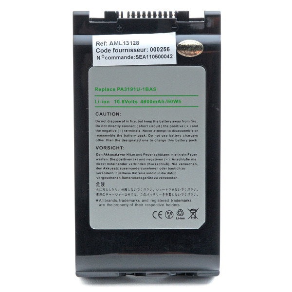 Laptop battery 10,8V 4000mAh for Toshiba Portege M700-13A