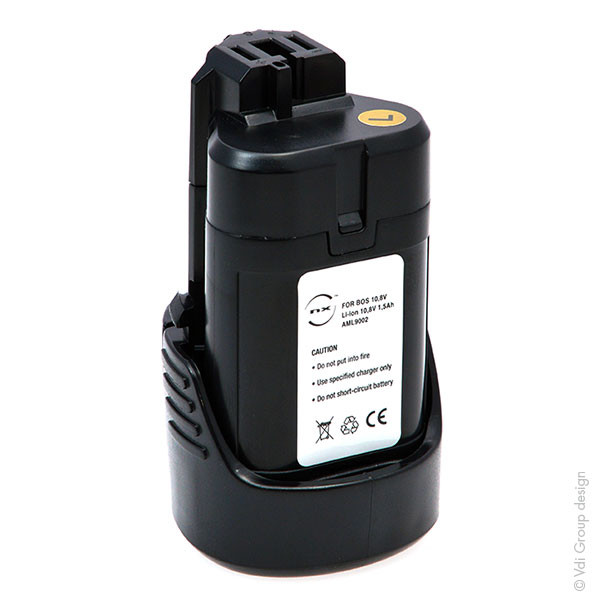 Power tool battery 10,8V 1,5Ah for Bosch 10.8 V GWI 10.8-LI Lithium-Ion