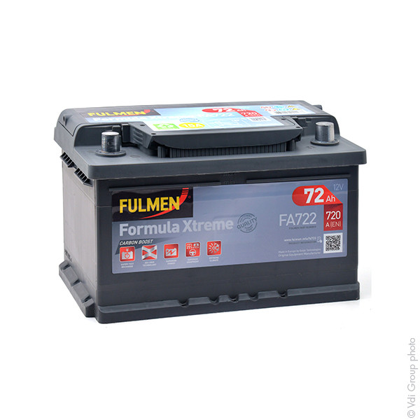Car battery 12V 72Ah for Alfa Romeo 156 2.5 24V, V6 09/1997 - 05/2006
