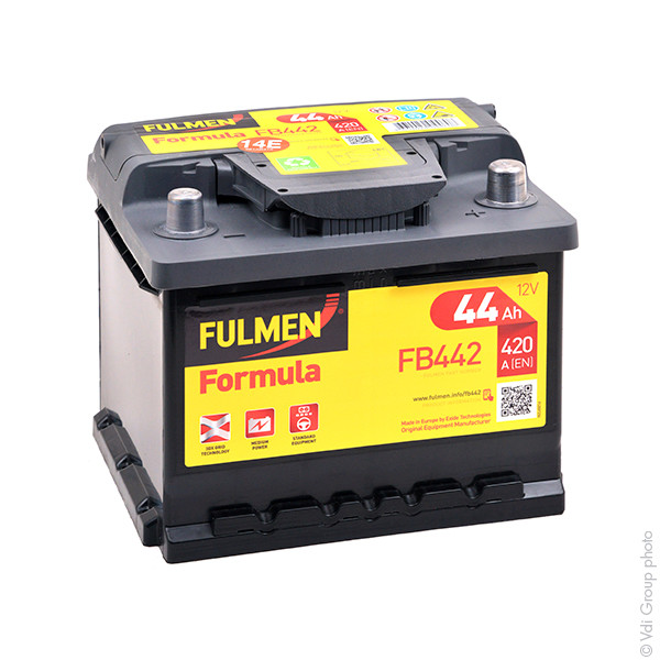 Car battery 12V 44Ah for Renault Clio II 1 02/2000 - 05/2001