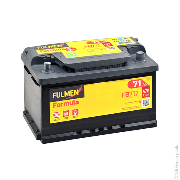 Car battery 12V 71Ah for Alfa Romeo 156 2.5 24V, V6 09/1997 - 05/2006
