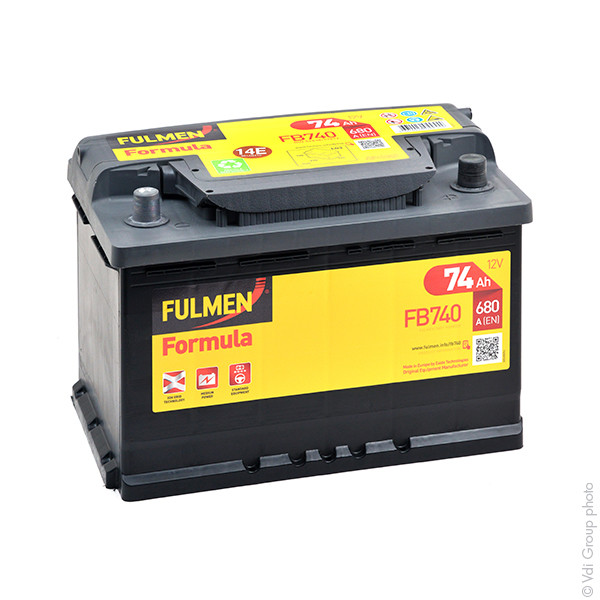 Car battery 12V 74Ah for Mercedes-Benz S-Class Saloon (W108, W109) 280 3.5. S, SE,SEL 10/1967 - 08/1972