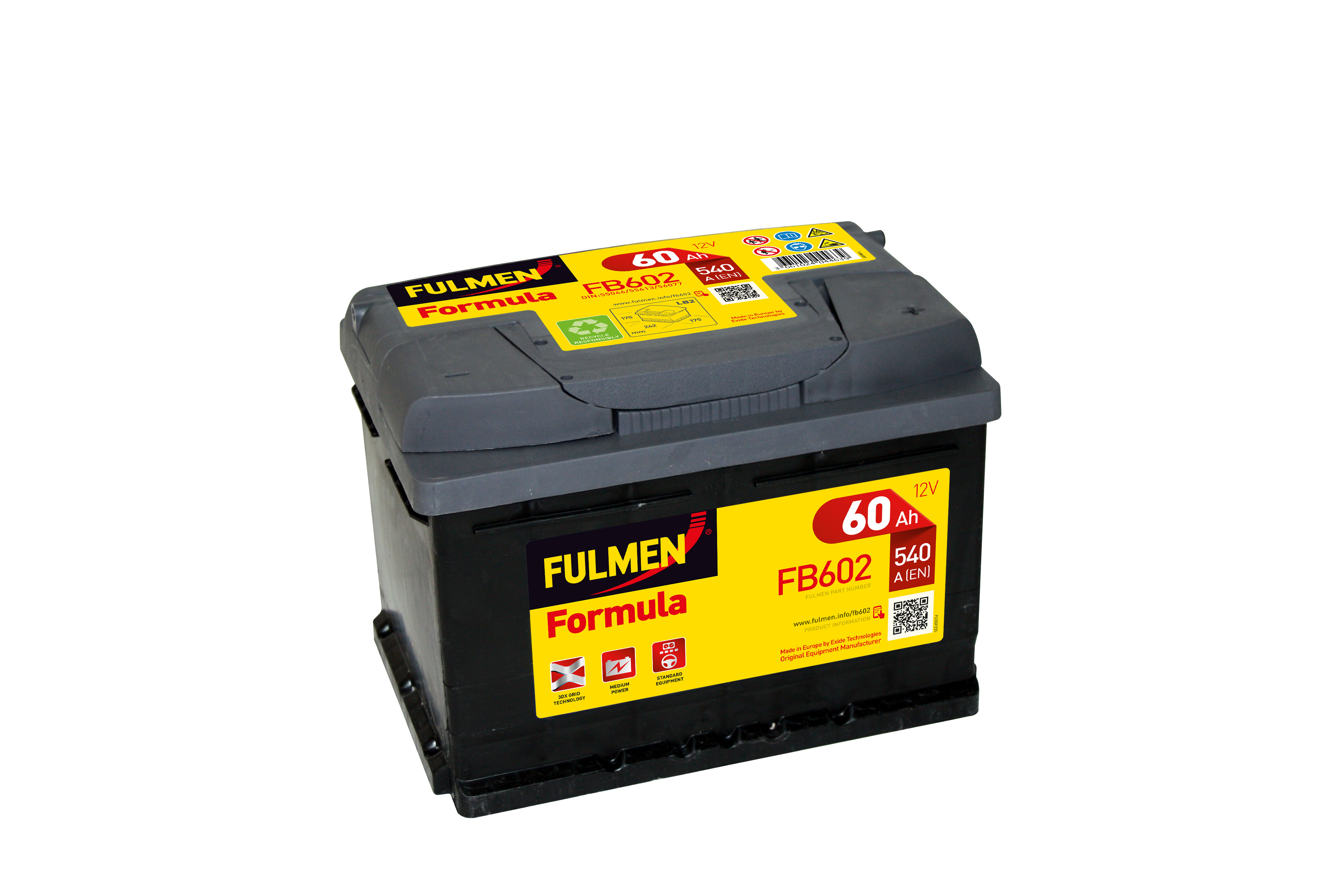 Car battery 12V 60Ah for Renault Clio II 3.0 Sport, V6 11/2000 -