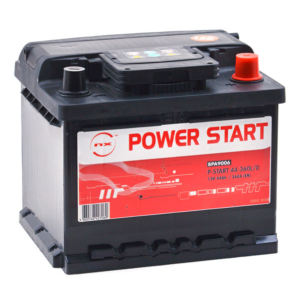 Car battery 12V 44Ah for Renault Clio II 1.0 02/2000 - 05/2001
