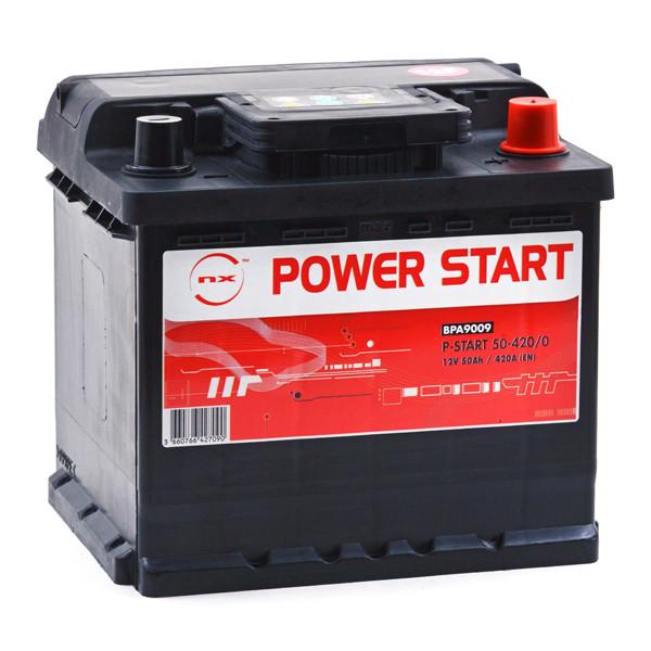 Car battery 12V 50Ah for Fiat Grande Punto (Diesel) 1.3 Djet 10/2005 -