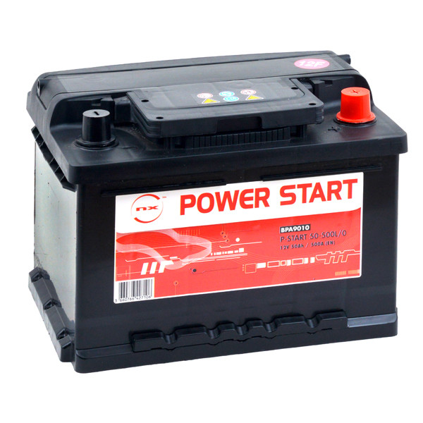 Car battery 12V 50Ah for Vauxhall Corsa Mk II (Diesel) 1.3 16V, CDTI 04/2004 -