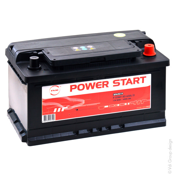 Car battery 12V 80Ah for Audi A6 Avant (4B, C5) (Diesel) 2.5 quattro, TDI 12/1997 - 01/2005