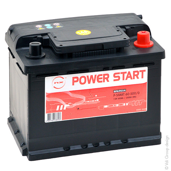 Car battery 12V 60Ah for Seat Leon 1.8 20V, 4. 4x4. Cupra, R, T, TSI, Turbo 11/1999 -