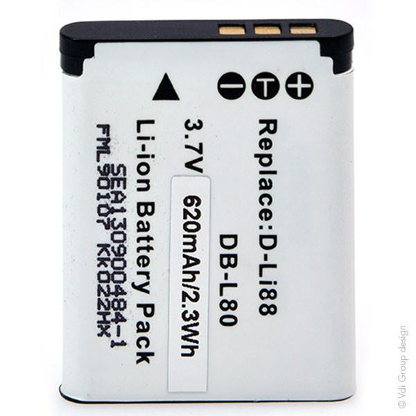 Camera battery 3,7V 500mAh for Pentax Optio P70