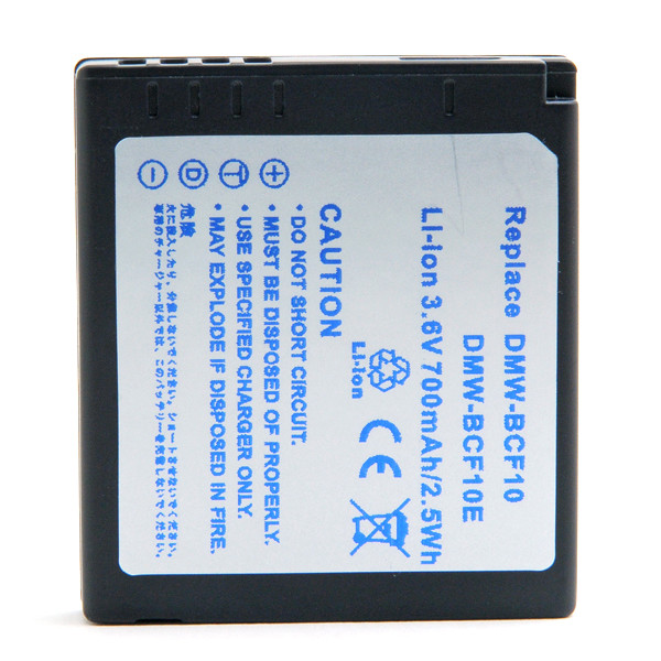 Camera battery 3,6V 700mAh for Panasonic Lumix DMC-FS62EG-S