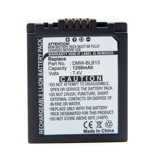 Camera battery 7,4V 1250mAh for Panasonic Lumix DMC-G1KEG-K