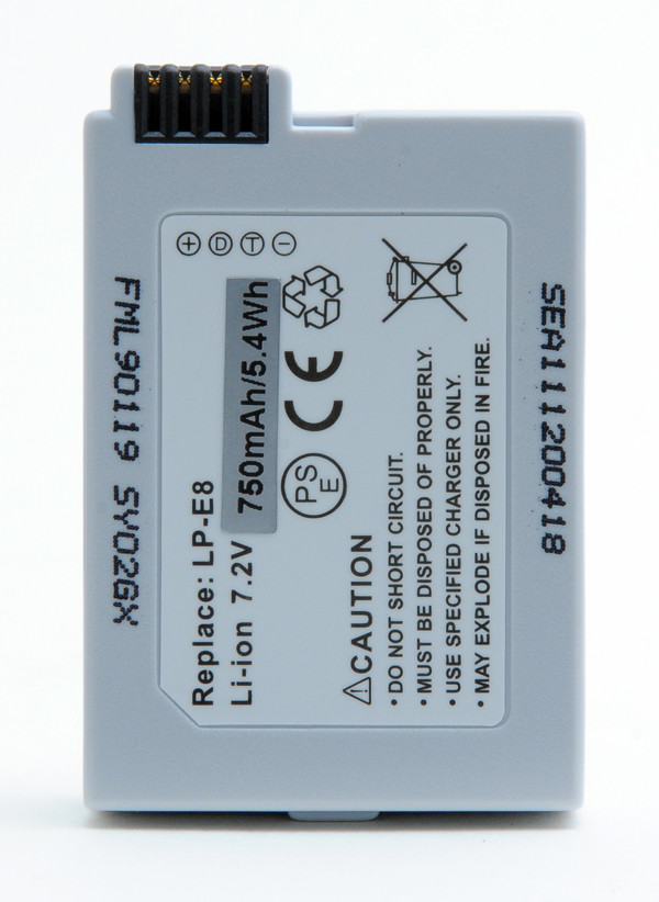 Camera battery 7,2V 750mAh for Canon EOS Kiss X5