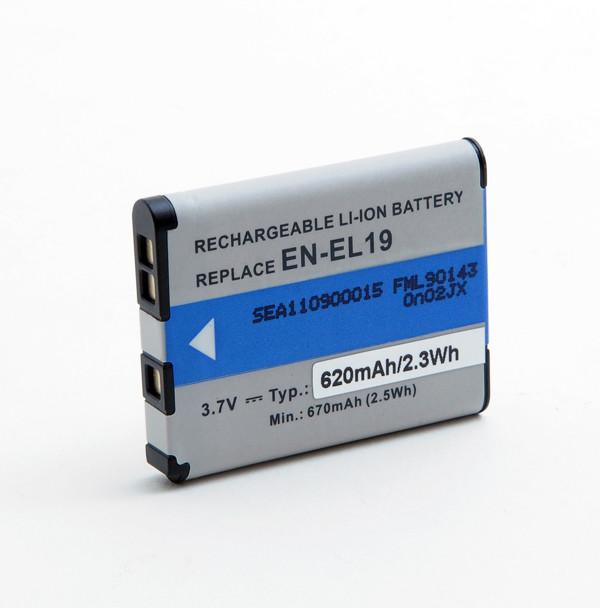 Camera battery 3,7V 620mAh for Nikon Coolpix S2600