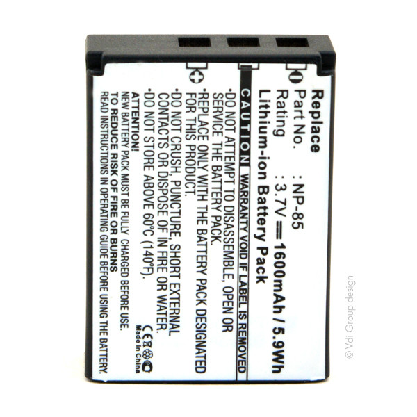 Camera battery 3,7V 1600mAh for Fujifilm FinePix SL245