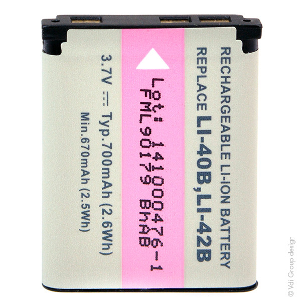 Camera battery 3,7V 700mAh for Kodak EasyShare M873 Zoom
