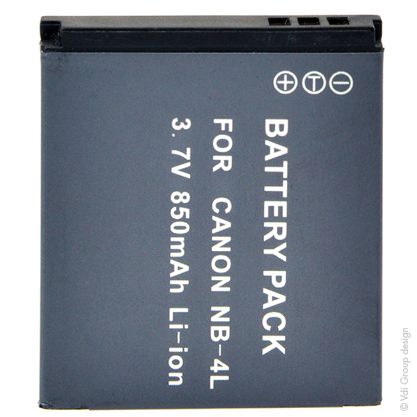 Camera battery 3,7V 800mAh for Canon Digital Ixus 40