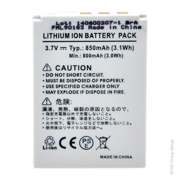 Camcorder battery 3,7V 850mAh for Aldi Slimline X5
