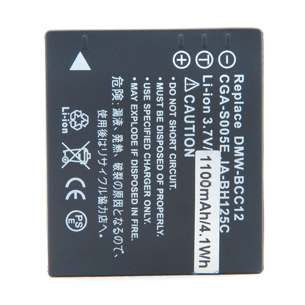 Camera battery 3,7V 1150mAh for Panasonic Lumix DMC-FX3