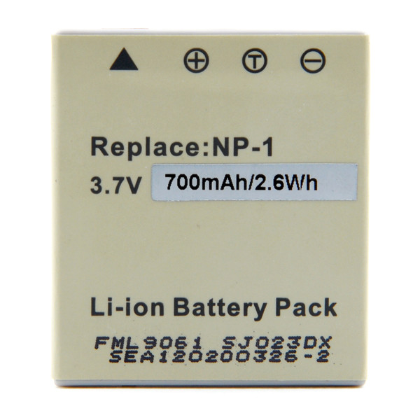 Camera battery 3,7V 700mAh for Pentax Optio E85