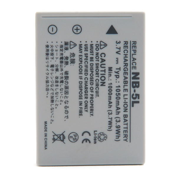 Camera battery 3,7V 980mAh for Canon PowerShot SX220 HS