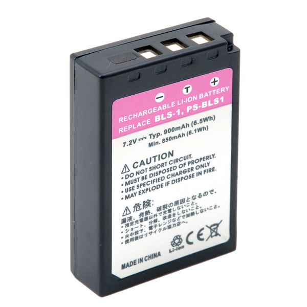 Camera battery 7,4V 900mAh for Olympus Evolt E-420