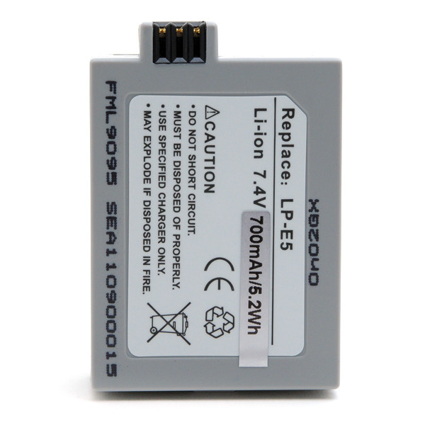 Camera battery 7,4V 800mAh for Canon EOS 500D