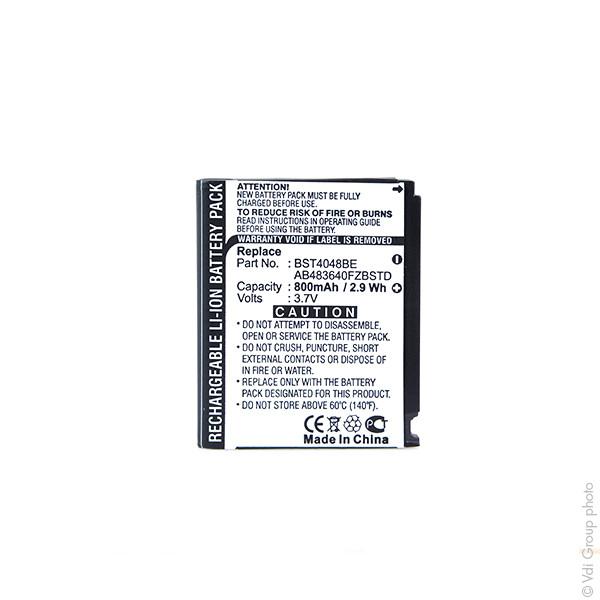 Mobile phone, PDA battery 3,7V 750mAh for Samsung GT-S5230 Star