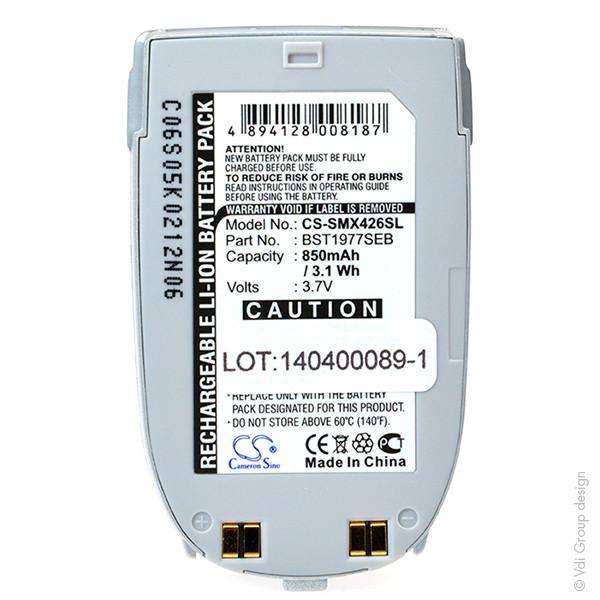 Mobile phone, PDA battery 3,6V 850mAh for Samsung SGH-X450
