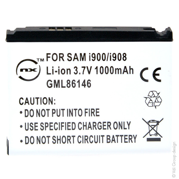 Mobile phone, PDA battery 3,7V 1000mAh for Samsung SGH-I900 Omnia
