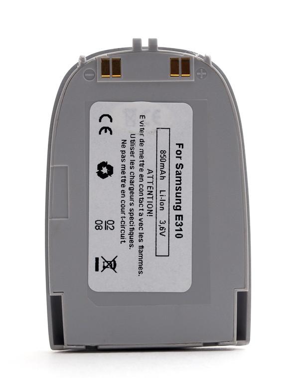 Mobile phone, PDA battery 3,6V 850mAh for Samsung SGH-E310