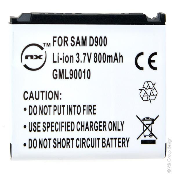 Mobile phone, PDA battery 3,7V 800mAh for Samsung SGH-D900e