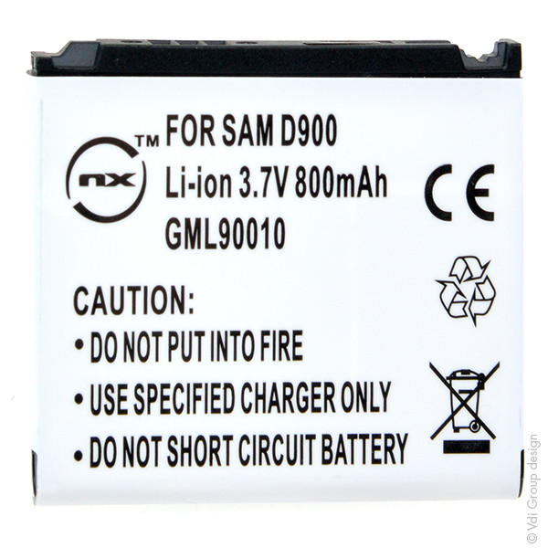 Mobile phone, PDA battery 3,7V 800mAh for Samsung SGH-D900i