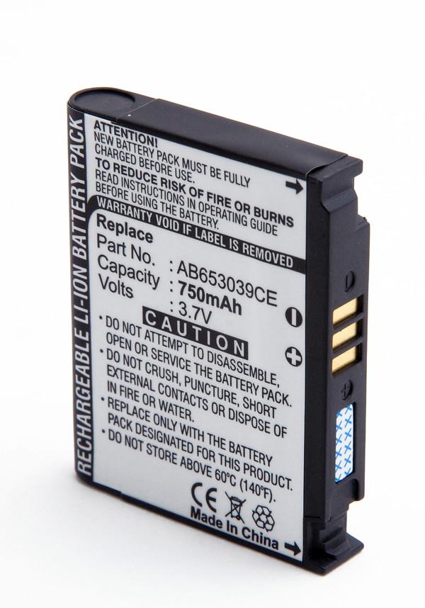 Mobile phone, PDA battery 3,7V 750mAh for Samsung SGH-U900