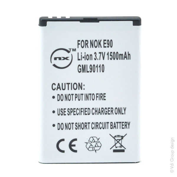 Mobile phone, PDA battery 3,7V 1500mAh for Nokia N810