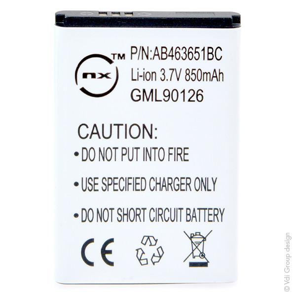 Mobile phone, PDA battery 3,7V 850mAh for Samsung GT-B3410