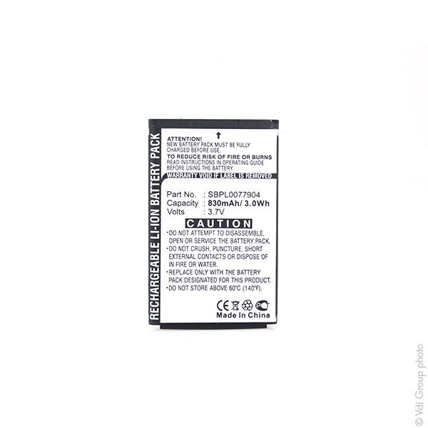 Mobile phone, PDA battery 3,7V 830mAh for LG KG245