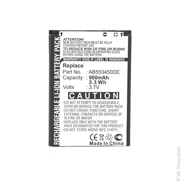 Mobile phone, PDA battery 3,7V 900mAh for Samsung SGH-D880i