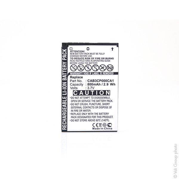 Mobile phone, PDA battery 3,7V 800mAh for Alcatel OT-E800