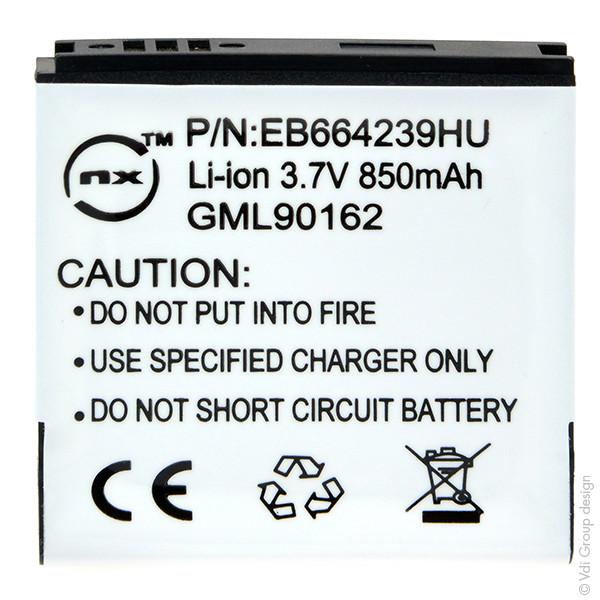 Mobile phone, PDA battery 3,7V 850mAh for Samsung GT-S8000 Jet Cubic