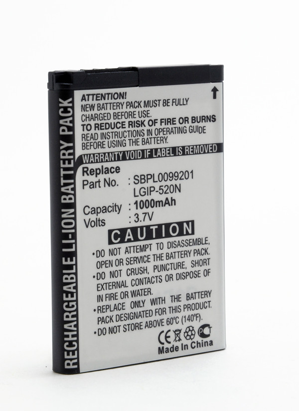 Mobile phone, PDA battery 3,7V 1000mAh for LG GD900 Crystal