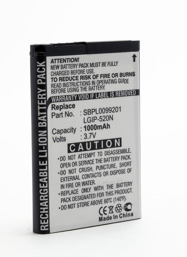 Mobile phone, PDA battery 3,7V 1000mAh for LG GD900 Crystal