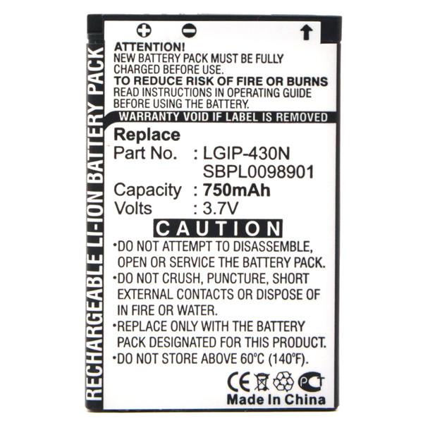 Mobile phone, PDA battery 3,7V 650mAh for LG GM360