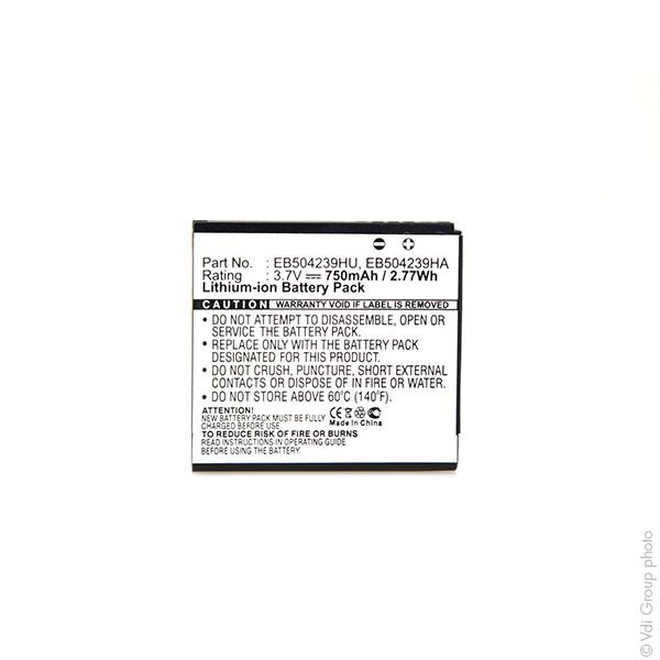 Mobile phone, PDA battery 3,7V 750mAh for Samsung SGH-S5200