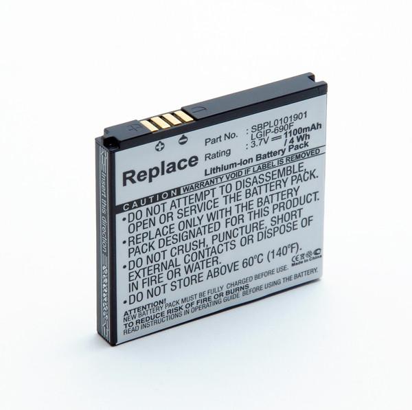 Mobile phone, PDA battery 3,7V 1100mAh for LG C900K