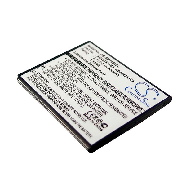 Mobile phone, PDA battery 3,7V 900mAh for Samsung GT-S5220