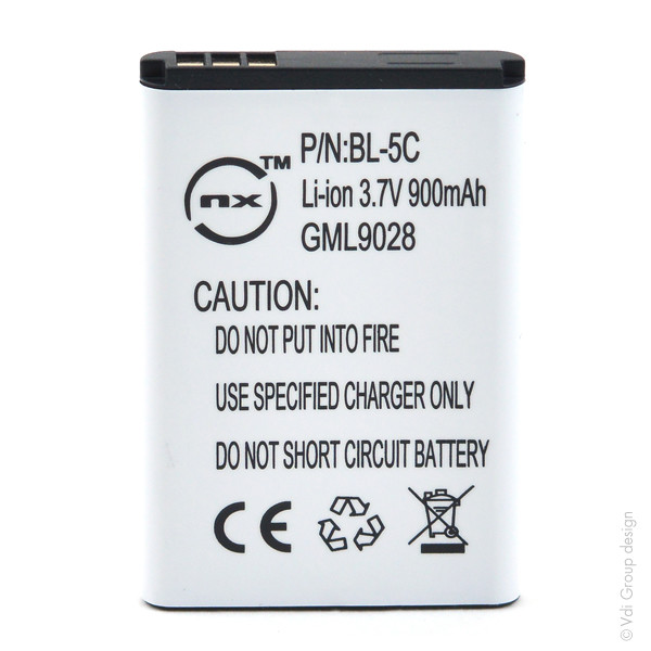 Mobile phone, PDA battery 3,7V 1000mAh for Nokia C2-01