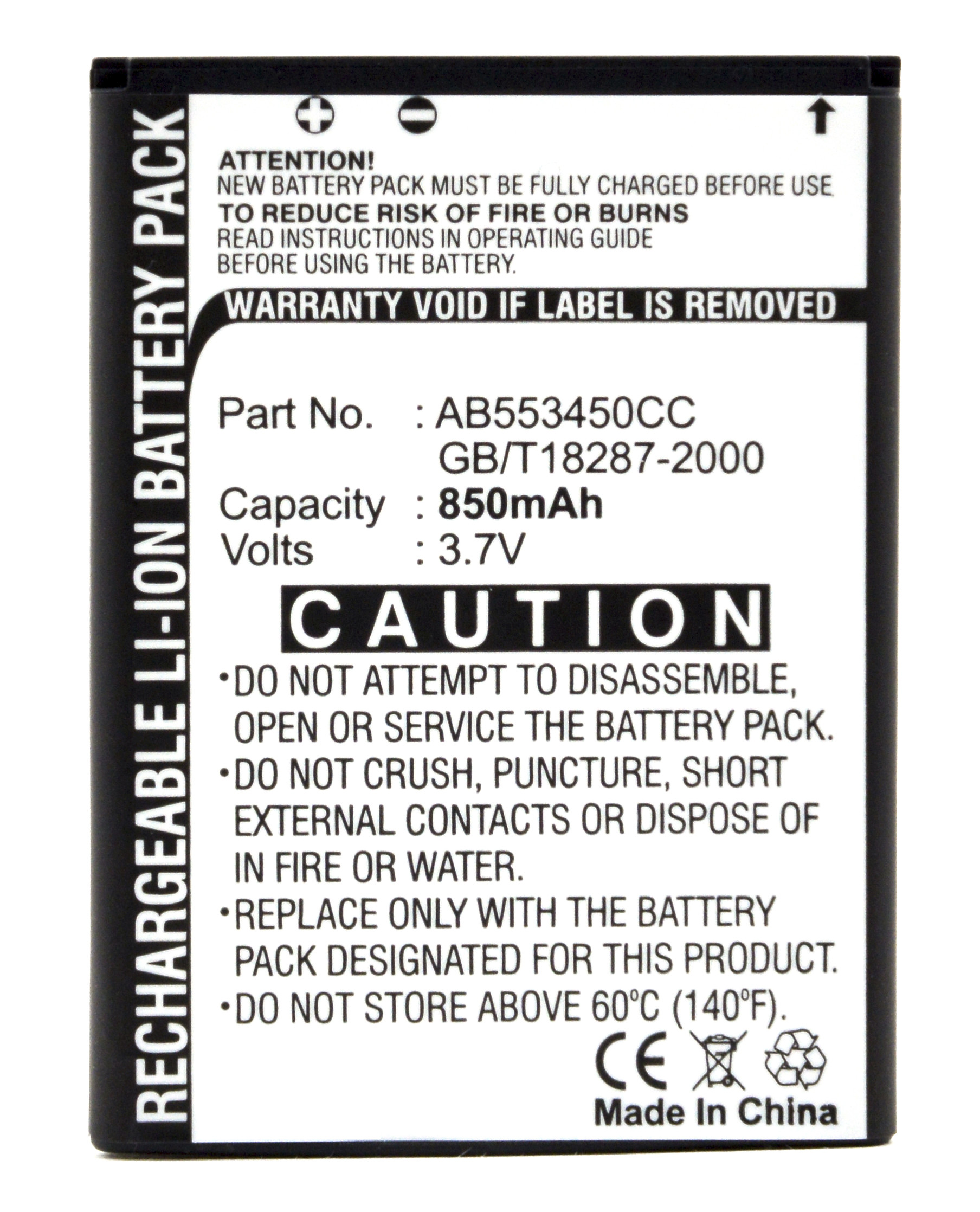 Mobile phone, PDA battery 3,7V 850mAh for Samsung SGH-i450