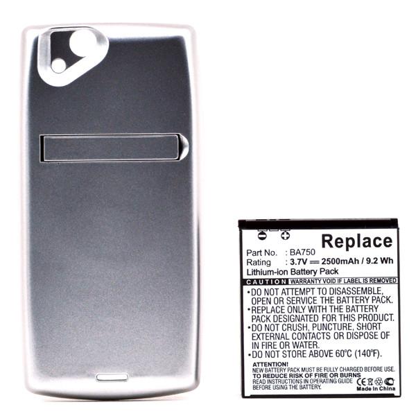 Mobile phone, PDA battery 3,7V 2500mAh for Sony Ericsson Xperia Arc